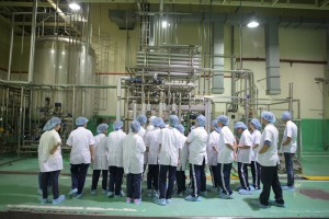 Tham quan thực tế nhà máy chiết rót vô trùng Aseptic thuộc tập đoàn Kirin.